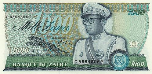 Zaire, 1985, 1000 Zaires