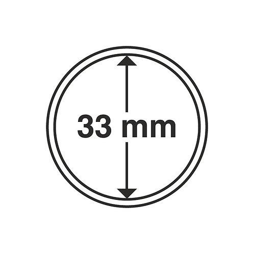 Coin Capsules, 33MM Ø inner diameter