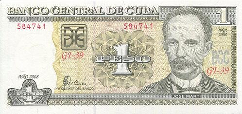 Cuba, 2008, 1 Peso