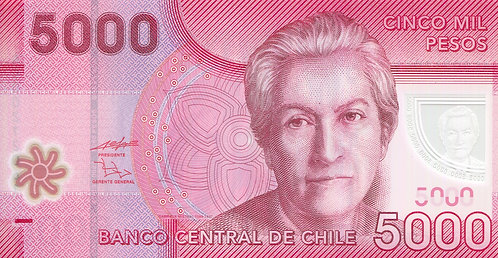 Chile, 2009, 5000 Pesos, Polymer