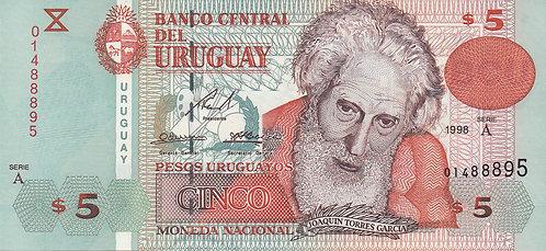 Uruguay,1998, 5 Pesos Uruguayos