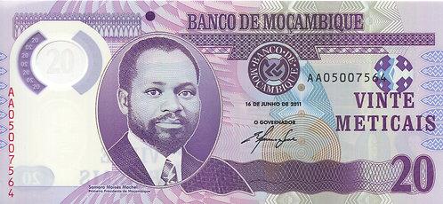 Mozambique, 2012, 20 Vinte Meticais