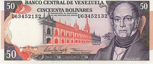 Venezuela, 1995, 50 Bolivares