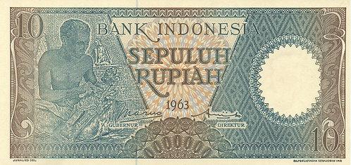 Indonesia, 1963, 10 Rupiah