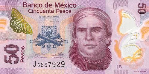 Mexico, 2013, 50 Pesos, Polymer