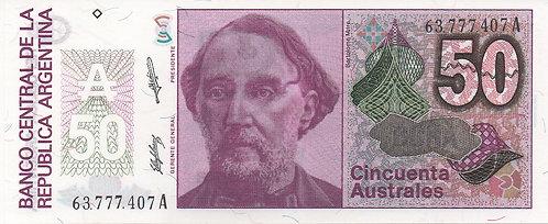 Argentina, 1985-1990, 50 Australes