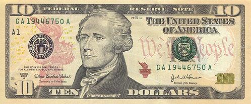 U.S.A. 2004, 10 Dollars