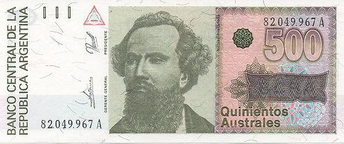Argentina, 1988-1990, 500 Australes