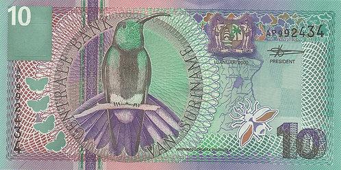 Suriname, 2000, 10 Gulden
