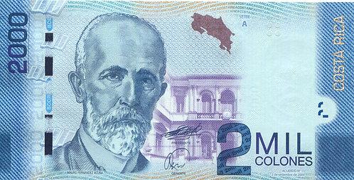 Costa Rica, 2011, 2000 Colones