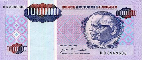 Angola, 1995, 100,000 Kwanzas