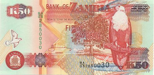 Zambia, 2003, 50 Kwacha