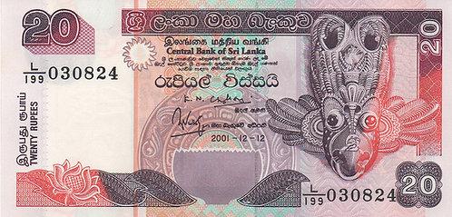 Sri Lanka, 2001, 20 Rupees