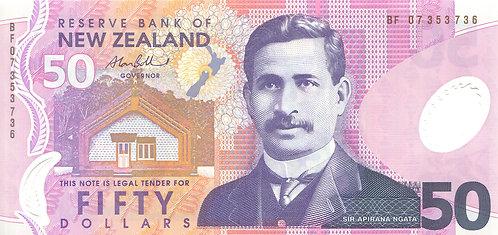New Zealand, 2007, 50 Dollars, Polymer