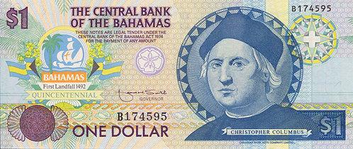 Bahamas, 1992, 1 Dollar, Commemorative