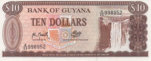 Guyana, 1966-1992, 10 Dollars