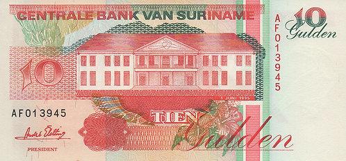 Suriname, 1995, 10 Gulden