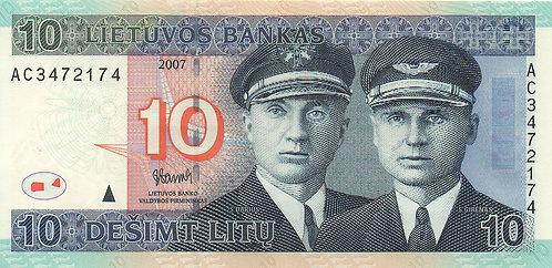 Lithuania, 2007, 10 Litu
