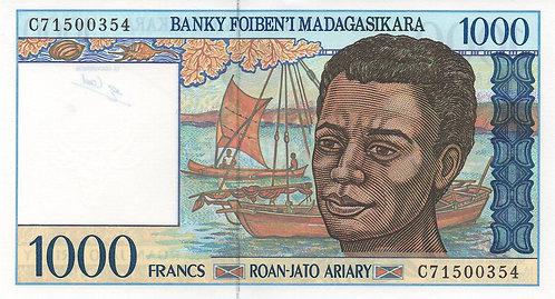 Madagascar, 1994, 1000 Francs