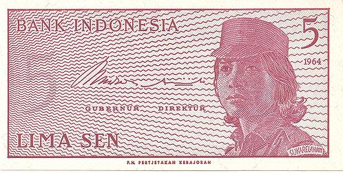 Indonesia, 1964, 5 Sen