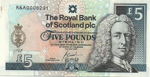Scotland, 2004, 5 Pounds, Royal Bank of Scotland