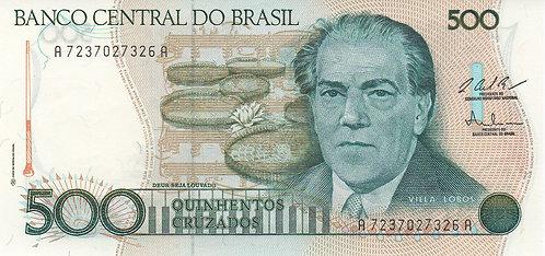 Brazil, 1987, 500 Cruzeiros