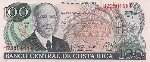 Costa Rica, 1993, 100 Colones