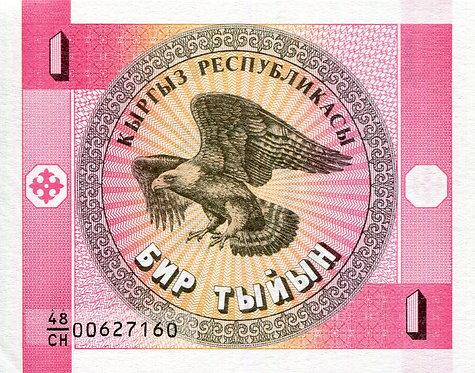 Kyrgyzstan, 1993, 1 Tyiyn