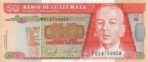 Guatemala, 2006, 50 Quetzales