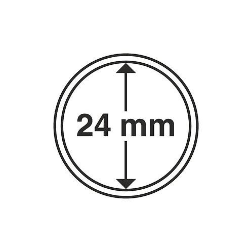 Coin Capsules, 24MM Ø inner diameter