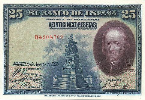 Spain, 1928, 25 Pesetas