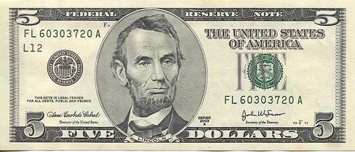 U.S.A. 2003, 5 Dollars