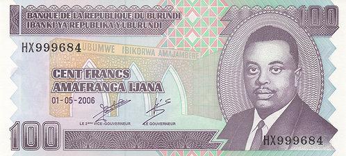 Burundi, 2004, 100 Francs