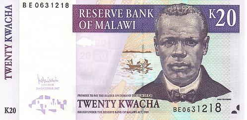 Malawi, 2007, 20 Kwacha