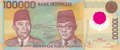 Indonesia, 1999, 100,000 Rupiah, Polymer