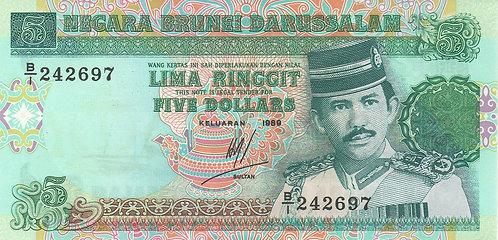 Brunei, 1989, 5 Ringgit