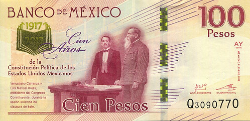 Mexico, 2017, 100 Pesos, Commemorative