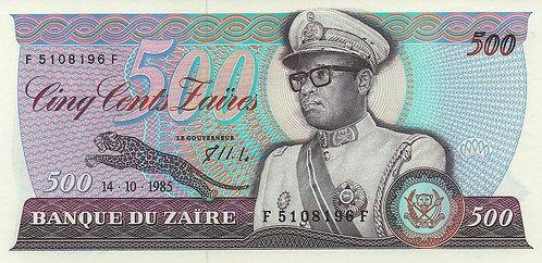 Zaire, 1985, 500 Zaires