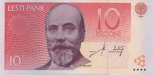 Estonia, 2006, 10 Krooni