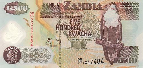 Zambia, 2003, 500 Kwacha, Polymer