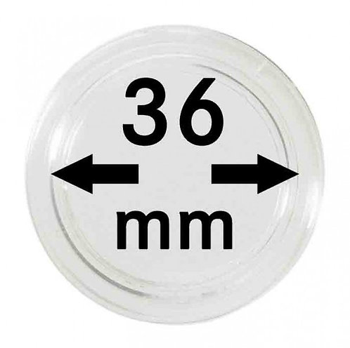 COIN CAPSULES 36 MM Ø INNER DIAMETER