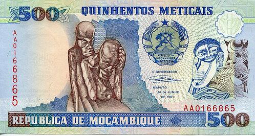 Mozambique, 500 Meticais