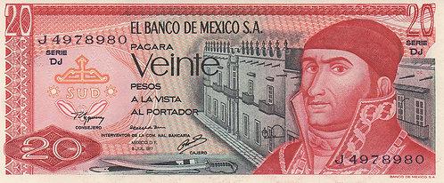 Mexico, 1977, 20 Pesos