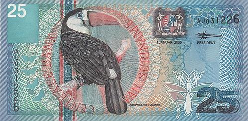 Suriname, 2000, 25 Gulden