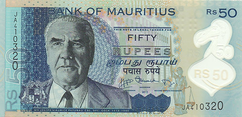 Mauritius, 2013, 50 Rupees, Polymer