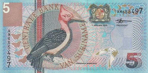 Suriname, 2000, 5 Gulden