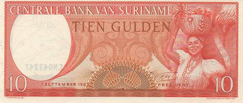 Suriname, 1963, 10 Gulden