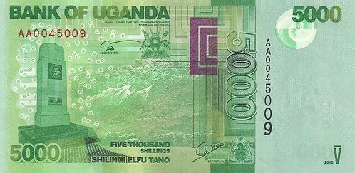 Uganda, 2010, 5000 Shilings