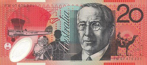 Australia, 2007, 20 Dollars, Polymer