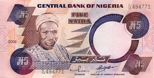 Nigeria, 2002, 5 Naira